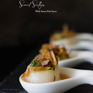 Seared Scallops with Sweet Fish Sauce