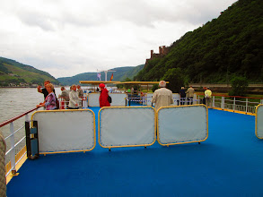 Photo: Unser Sonnendeck auf dem Rhein noch offen