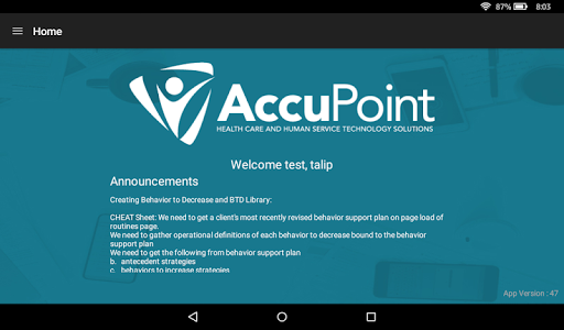 AccuPoint ABA Data Collection 1.0.1 screenshots 1