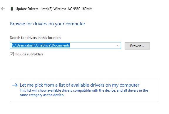 Driver Update wizard
