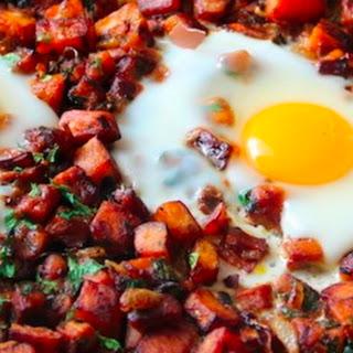 Sweet Potato and Egg Breakfast Hash –