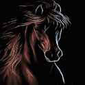 Brown Horse Shine LWP icon