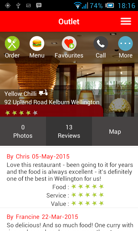 Dinein.co.nz- screenshot