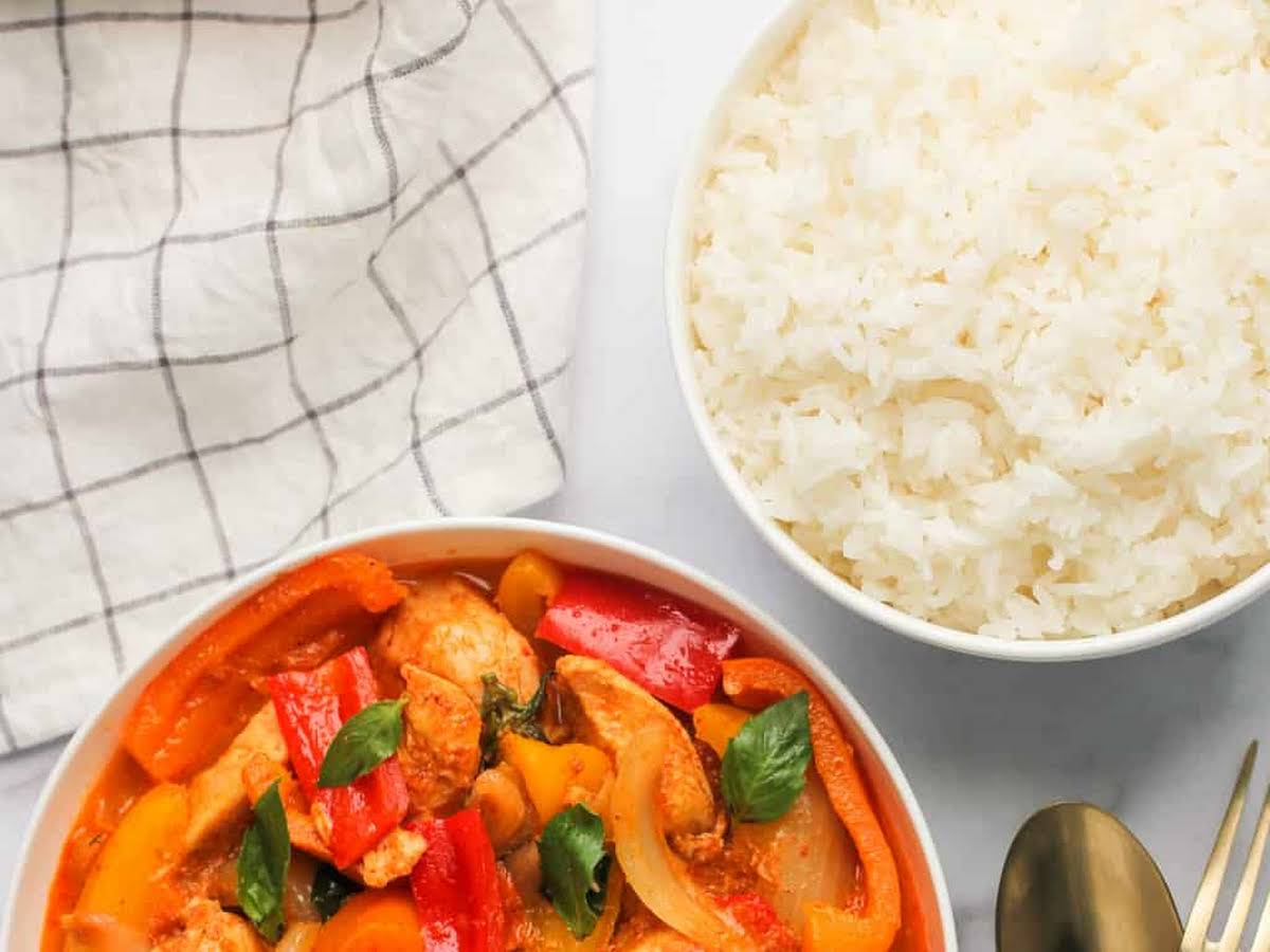 Thai Red Curry Chicken Instant Pot