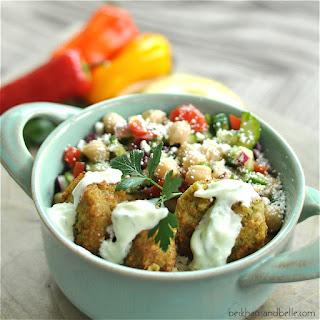Falafel Rice Bowl with Tzatziki Sauce
