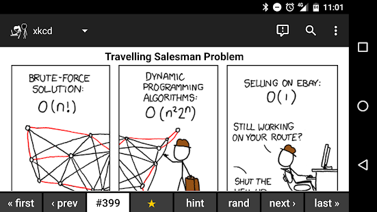 Browser for xkcd- screenshot thumbnail