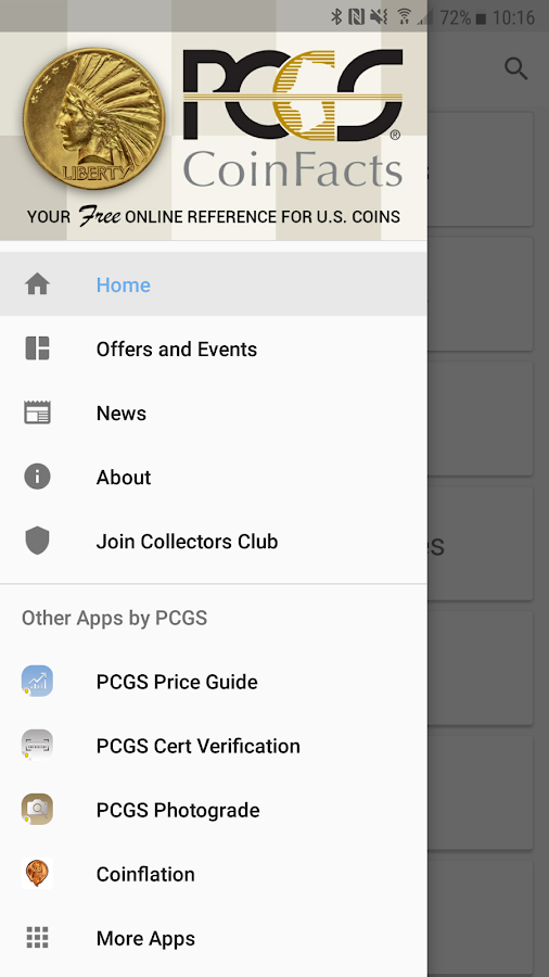 PCGS CoinFacts Coin Collecting- screenshot