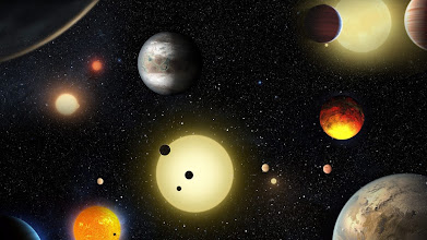 """Photo: NAS01. ESPACIO, 10/05/2016.- Imagen cedida por la NASA hoy, 10 de mayo de 2016, de un concepto artístico de planetas descubiertos por el telescopio espacial de la NASA Kepler. La Agencia Aeroespacial estadounidense (NASA) anunció hoy el hallazgo de 1.284 nuevos planetas gracias a una novedosa técnica de análisis de los datos del telescopio Kepler, el mayor anuncio de exoplanetas en un solo día hasta la fecha. """"Este anuncio dobla el número de planetas confirmados por Kepler"""", anunció en una rueda de prensa Ellen Stofan, científica jefe de la sede de la NASA en Washington. EFE/W. STENZEL/NASA/SOLO USO EDITORIAL"""