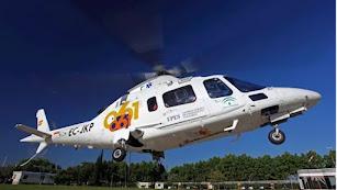 El menor fue desplazado en helicóptero hasta Antequera.