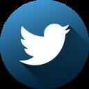 circle, high quality, long shadow, media, social, social media, twitter icon