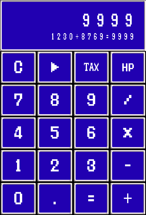 Retro game style calculator FF- screenshot