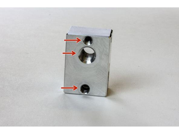 Figure 3:  Bottom of the Heater Block