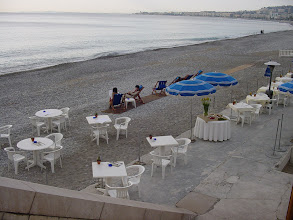 Photo: There are several private beach areas, where you can pay $10-20 for a chair and a choice spot – more for food and drinks.