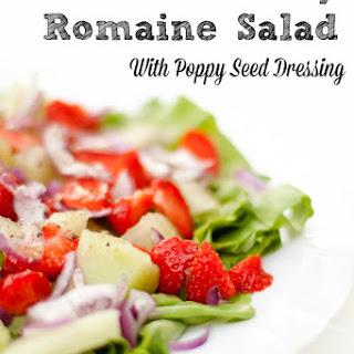 Romaine Salad With Strawberries.