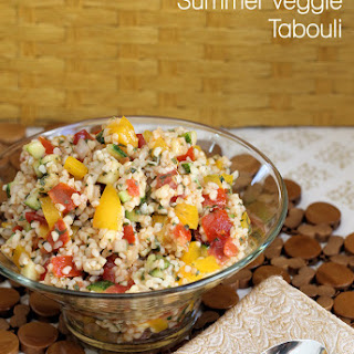 Lemon Balm and Summer Veggie Tabouli Salad