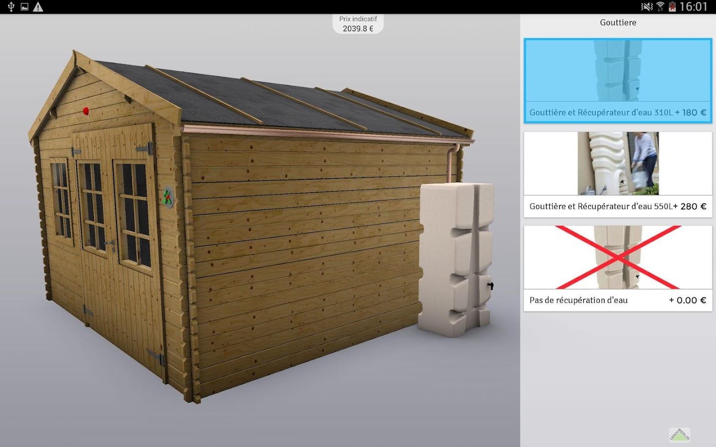 my 3d shed by leroy merlin android apps on google play. Black Bedroom Furniture Sets. Home Design Ideas