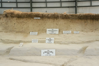 Photo: This is a cross section of the actual site. (See next photo to read the smaller test.)