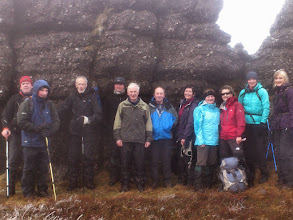 Photo: B group at O'Loughlin's Castle on Roger Lonergan's walk, January 19th, 2014