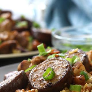 Cashew Eggplant Chicken Stir Fry.