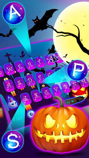 Halloween Pumpkin Keyboard Theme screenshots 2