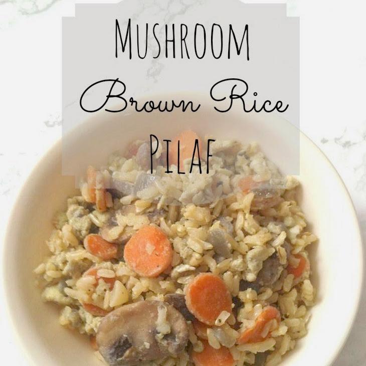 Mushroom Brown Rice Pilaf Recipe