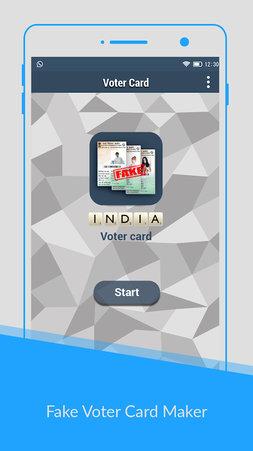 Voter Id Card Maker Prank Screenshot
