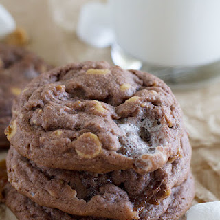 Chocolate, Peanut Butter and Marshmallow Pudding Cookies.