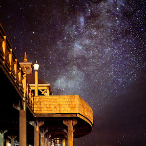 by Charles Brooks - Landscapes Starscapes ( frutillar, photographersdirect, lake, chile, 365, nature, stars, outdoors, pier, night, long exposure, landscapes, galaxy, mist )