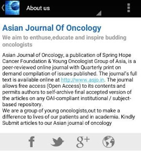 Asian Journal Of Oncology- screenshot thumbnail