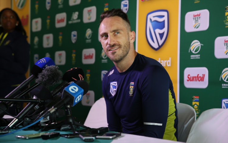 Faf du Plessis during the South African national mens cricket team training session and press conference at PPC Newlands Stadium on March 21, 2018 in Cape Town, South Africa.