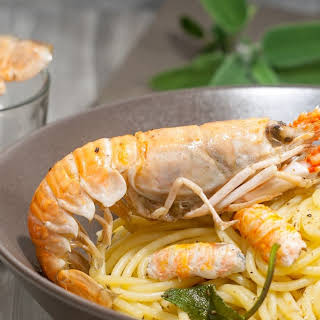 Pasta with Langoustines, Butter and Sage.