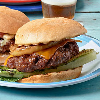 Classic Cheeseburgers with Grilled Romaine & Onions