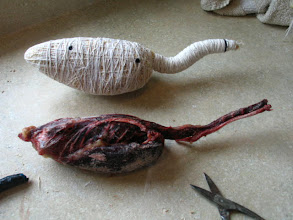Photo: Example of a carcass with a wrapped body comparision
