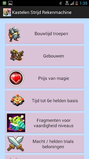 Clash Calculator in Dutch