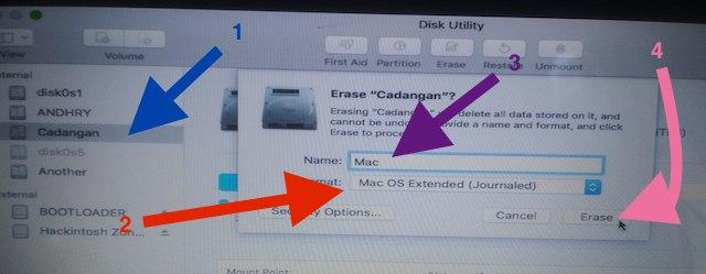 Format Partisi macOS