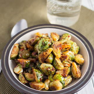 Sweet and Spicy Roasted Brussels Sprouts.