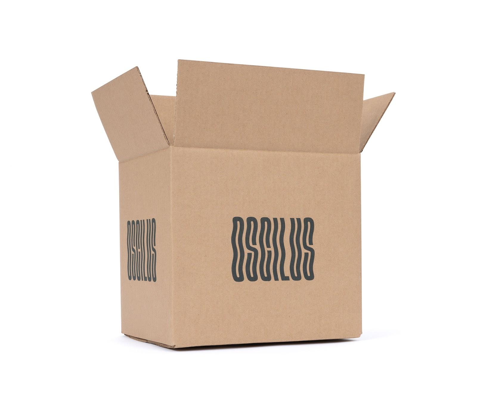 Kraft branded shipping box