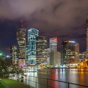 MMPI_20150228_MMPI0021_0090 by Mick McKean - City,  Street & Park  Night ( skyline, tod, time of day, night photography, night, cityscape, nightscape, river )