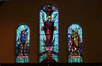 Photo: Kearsney Chapel - stained glass windows