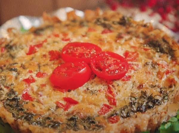 Potato Crusted Jalapeno  Quiche