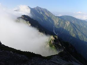 鹿島槍ヶ岳方面の展望