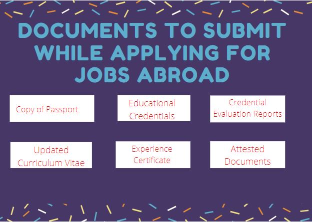 documents submit for applying jobs abroad