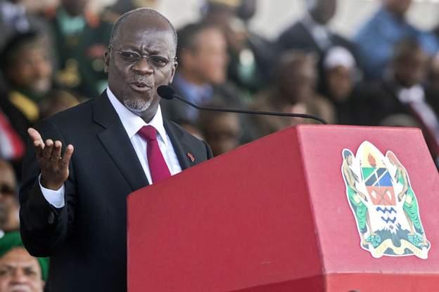 """President John Magufuli, nicknamed """"The Bulldozer"""""""