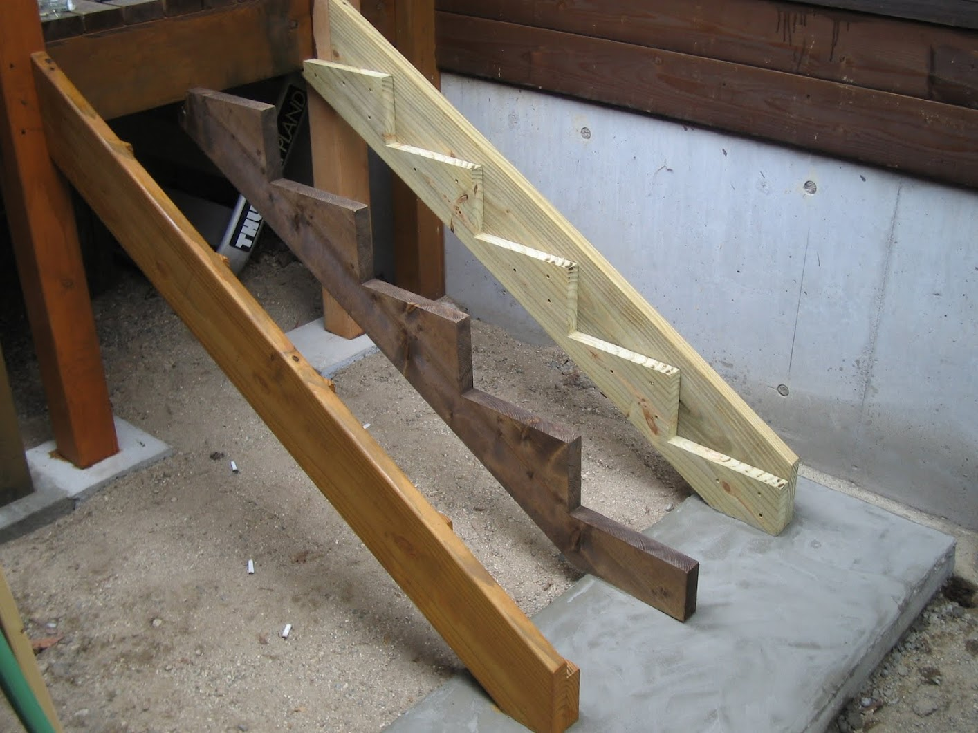 Building Exterior Wood Steps