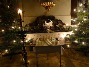 Photo: Zum letzten Mal vor dem Weihnachtsfest 2015 sehen wir die Krippe.