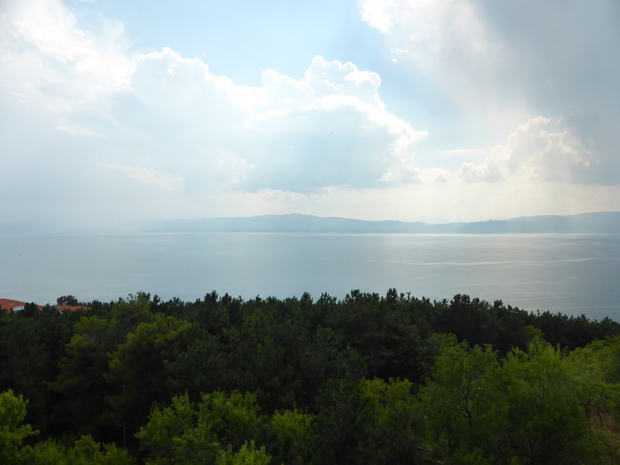View of Ohrid lake from Samuel's fortress in Ohrid, Macedonia