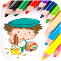 Kids Doodle Drawing Book Free icon