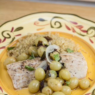 Mahi Mahi with Roasted Grapes and Basil