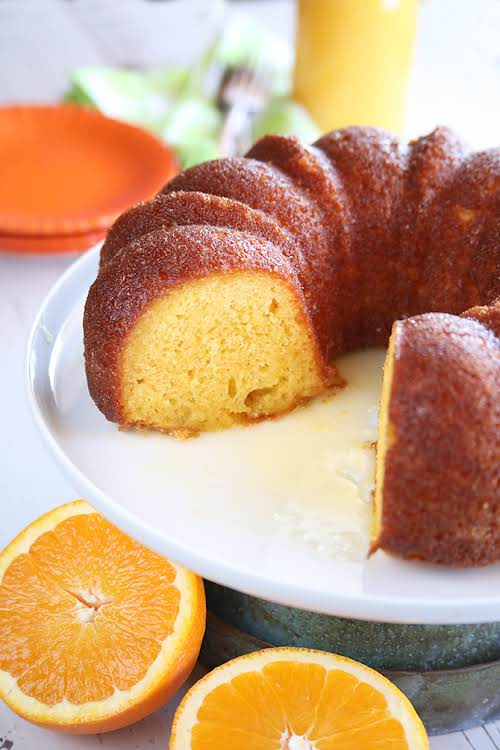 """Orange Juice Cake """"This amazingly delicious cake starts with a simple box..."""