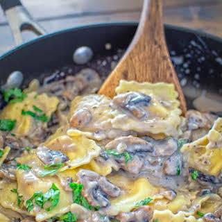 Creamy Mushroom Ravioli.